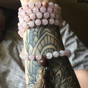 Rose Quartz Mala Necklace